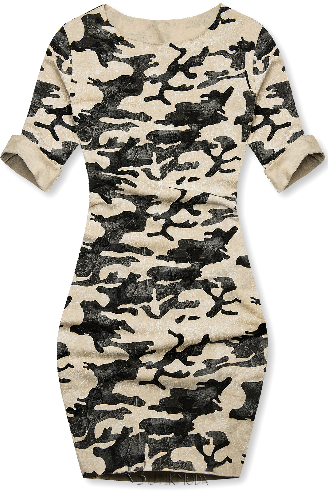 Rochie army casual vanilie