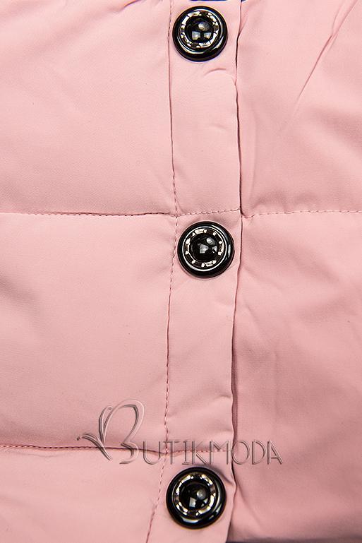 Geacă matlasată roz pentru iarnă