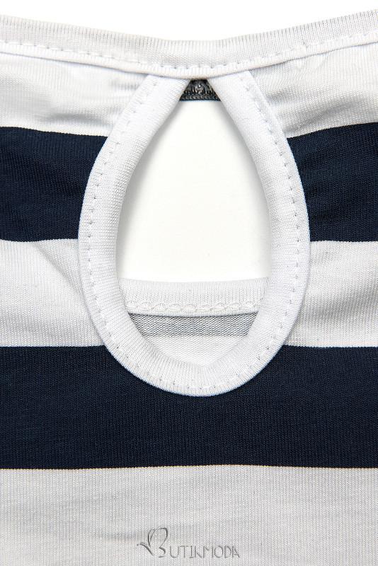 Rochie cu dungi albastră-albă X.