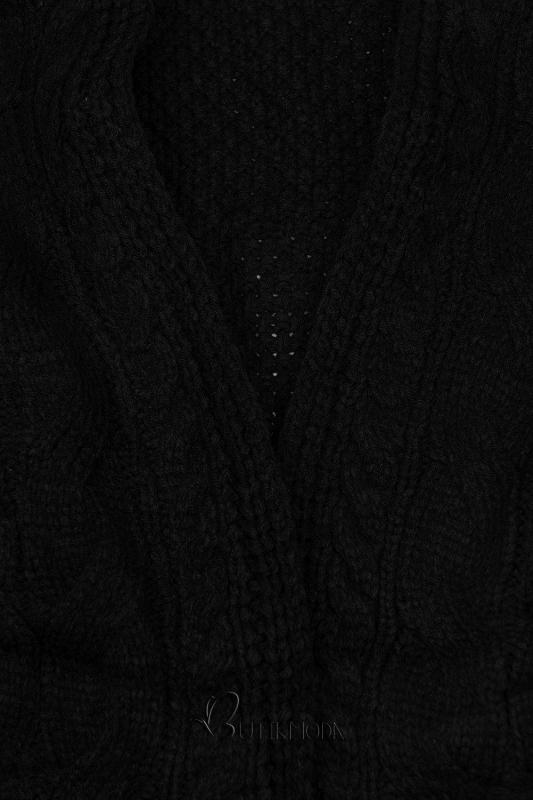 Cardigan scurt negru