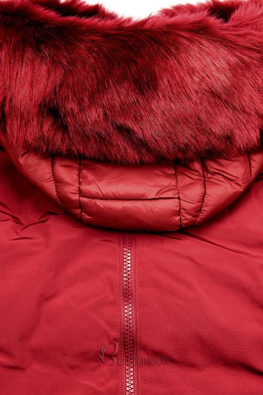 Geacă matlasată de iarnă roșie