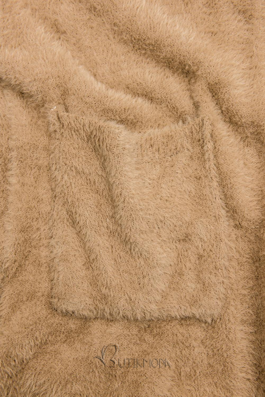 Cardigan lung camel maro