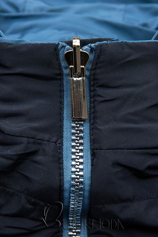 Geacă reversibilă albastru/bleumarin