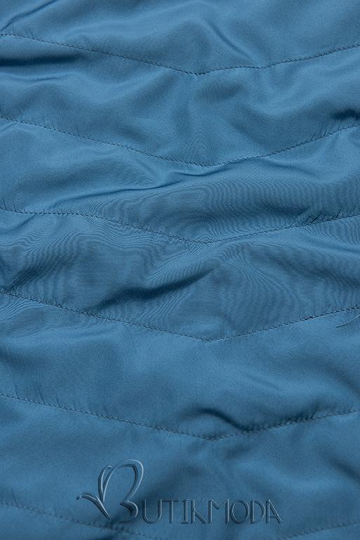 Parka cu glugă detașabilă bleumarin/albastră