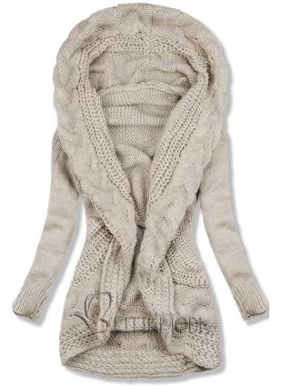 Pulover tricotat bej