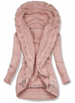 Pulover tricotat roz