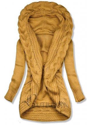 Pulover tricotat galben
