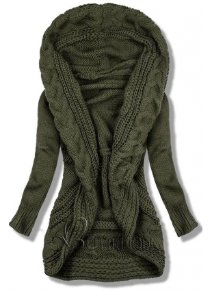 Pulover tricotat khaki