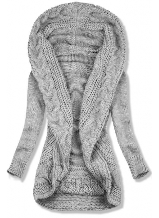 Pulover tricotat gri
