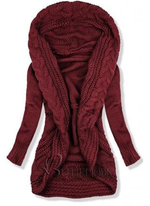 Pulover tricotat bordo