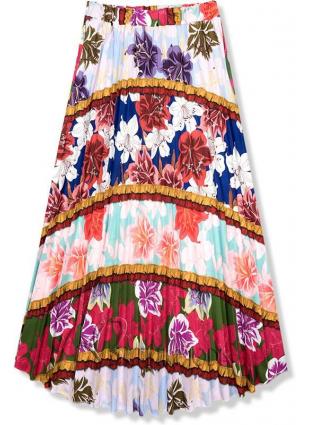 Fustă maxi cu imprimeu floral II.