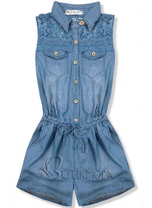 Salopetă jeans albastru deschis