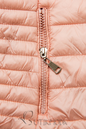 Geacă roz matlasată cu căptușeală colorată