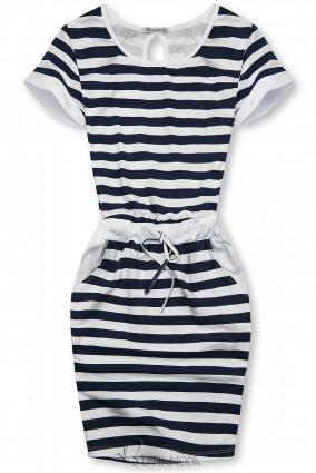Rochie cu dungi albastră-albă I.