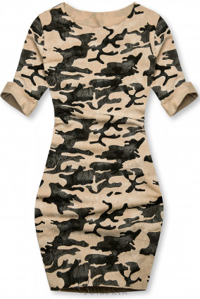 Rochie army casual maro