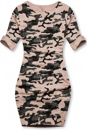 Rochie army casual roz