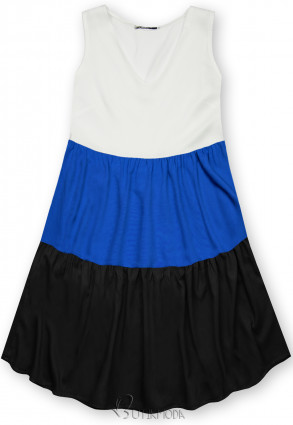Rochie de vară din viscoză albă/albastră/neagră