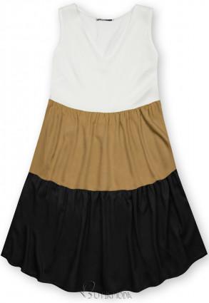Rochie de vară din viscoză albă/maro/neagră