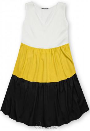 Rochie de vară din viscoză albă/galbenă/neagră