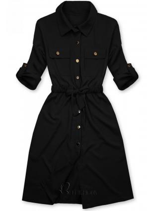 Rochie cămașă neagră