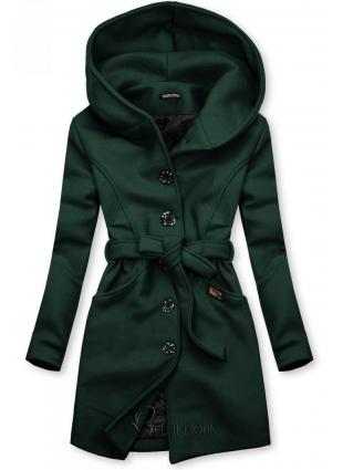 Palton verde cu glugă
