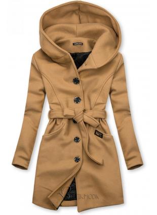 Palton maro cu glugă