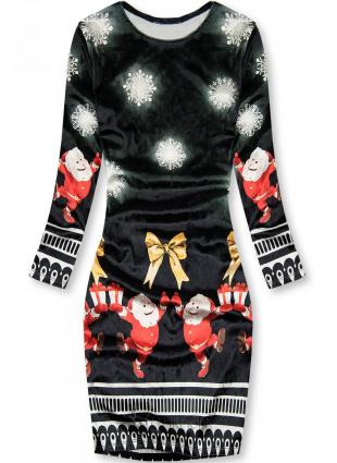 Rochie neagră Santa