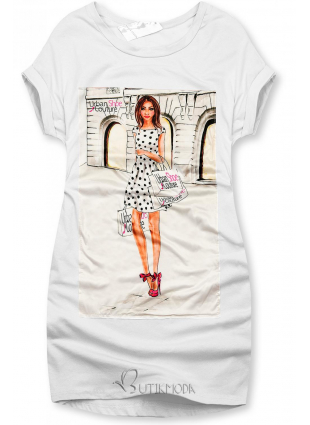 Rochie albă Urban Couture