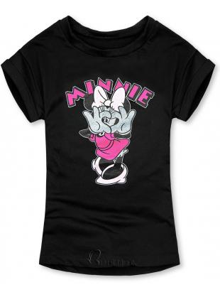 Tricou negru cu Minnie Mouse
