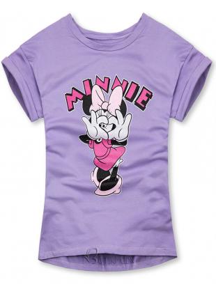 Tricou mov cu Minnie Mouse
