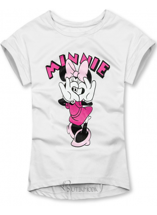 Tricou alb cu Minnie Mouse