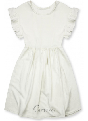 Rochie de vară albă din viscoză
