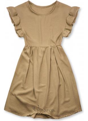 Rochie de vară maro din viscoză