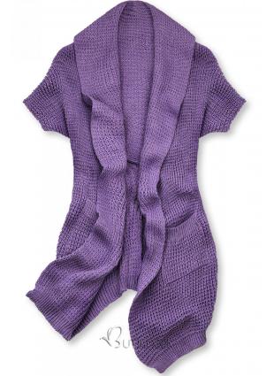 Cardigan tricotat asimetric mov