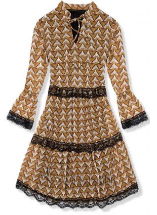 Rochie cu imprimeu galben-negru