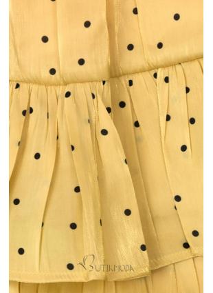 Fustă galbenă cu buline
