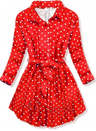 Rochie roșie cu buline