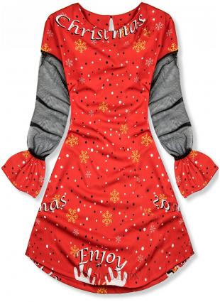 Rochie roșie Enjoy Christmas