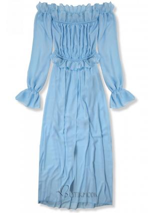 Rochie lungă de vară baby blue