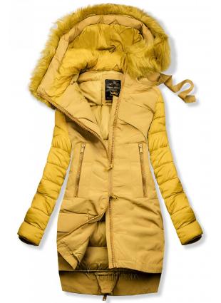 Geacă matlasată de iarnă galbenă