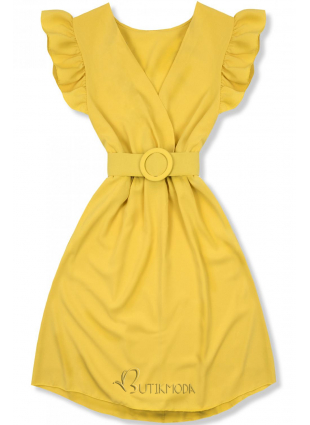 Rochie galbenă cu curea