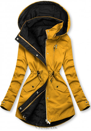 Geacă reversibilă galben/negru